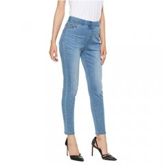 iChosy Women's Totally Shaping Pull-on Skinny Jeans with Tummy Control