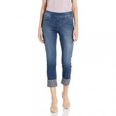 Jag Jeans Women's Lewis Straight Pull on Crop W/Contrast Cuff Jean