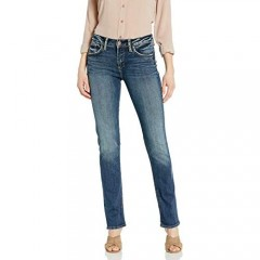 Silver Jeans Co. Women's Avery High Rise Straight Leg Jeans