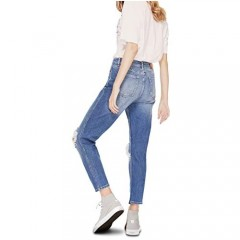 Women's High-Rise Cropped Jeans Denim Jeggings Tapered Ripped Skinny Fit Ankle Length Jeans