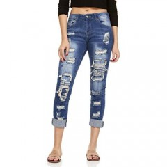 YDX Women's Ripped Skinny Jeans High Waisted Jeans for Women