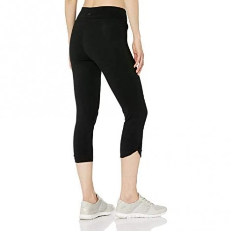 Marc New York Performance Women's Cotton Spandex Crop Legging with Twisted Faux Knot Detail