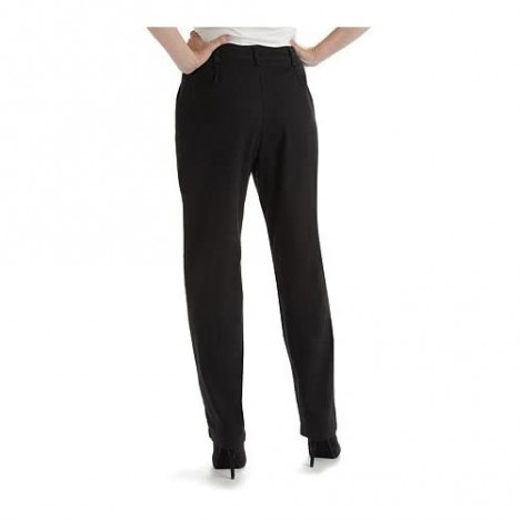 Lee Women's Petite Relaxed-Fit Side-Elastic Straight-Leg Pant