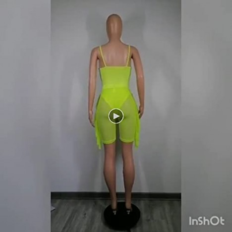 Women's Sexy 2 Pieces Outfit See Through Crop Top and Pants Sets Mesh Backless Clubwear
