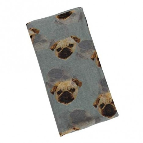 GERINLY Cotton Voile Scarfs for Dog Lovers Cute Animal Print Cozy Neck Wrap Lightweight