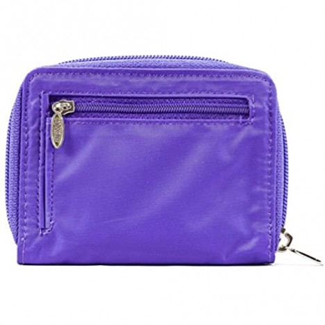 Big Skinny Women's Lynx Zippered Slim Wallet Holds Up to 30 Cards