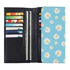HAWEE Card Wallet for Women Trifold Floral Credit Card Holder Case with Coin Pocket Snap Closure Gifts For Teen Girls