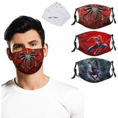 Face Mask with Filter Protective Balaclava Mouth Cover Windproof Dustproof with Adjustable for Men Women Boys Girls Kids 3pcs