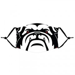 Georgia Bulldogs Unisex Adult Outdoor Sport Cover Face Cover Washable Reusable Black