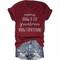 Womens Mom Definition T-Shirt Mother's Day Shirt Funny Mama Letter Print Short Sleeve Casual Graphic Tees Tops