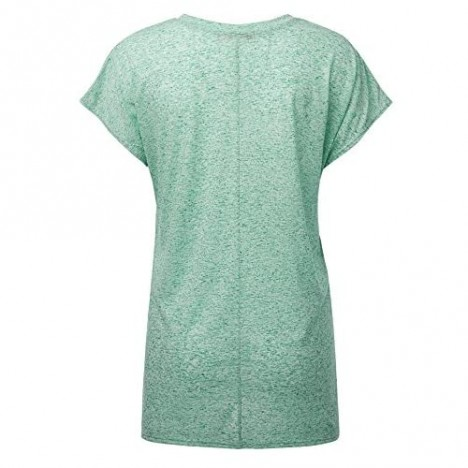 Womens Short Sleeve V-Neck High Low Dolman Top - Made in USA
